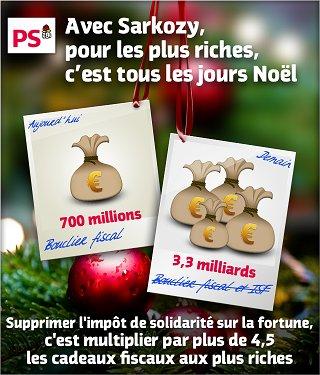 Avec Sarkozy, pour les plus riches, c'est tous les jours Noël