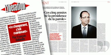 François Hollande : «Le changement c'est maintenant»