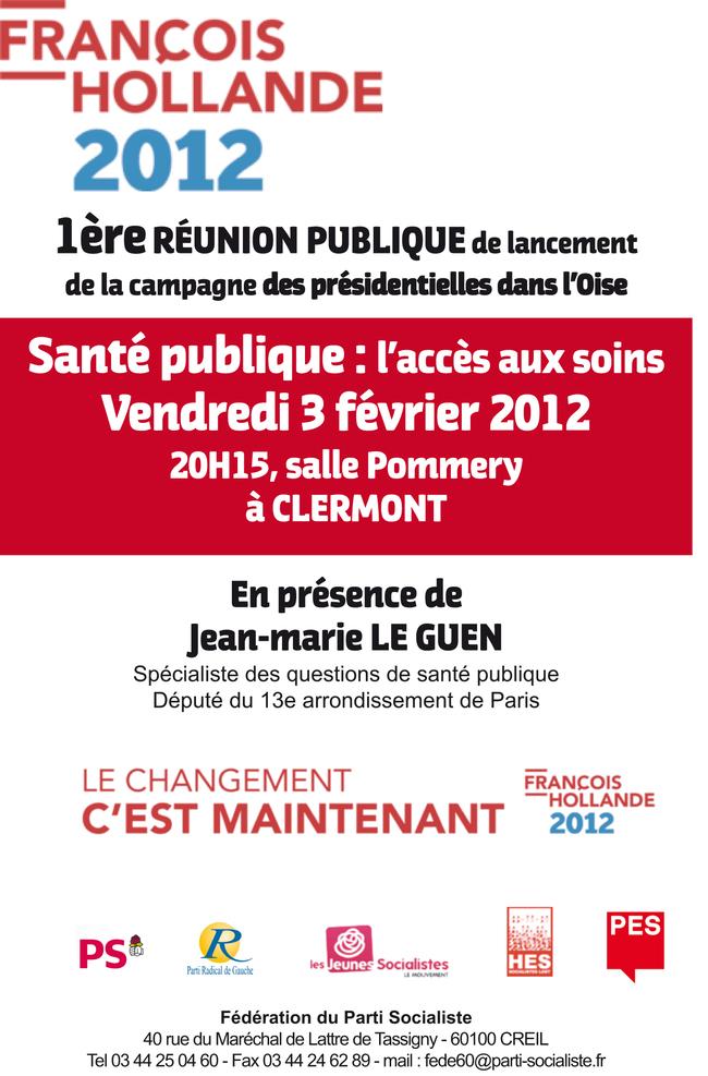Réunion publique à Clermont, 3 février 2012, à 20h15