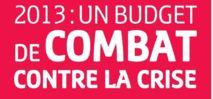 2013 : un budget de combat contre la crise