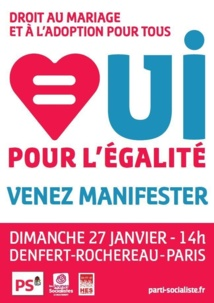 Le 27 janvier, mobilisés pour dire «oui, pour l'égalité»