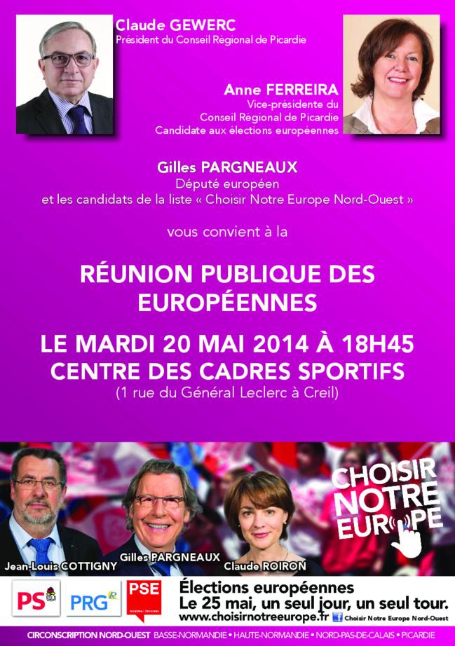 """Réunion publique """"élections européennes"""" avec Gilles Pargnaux"""