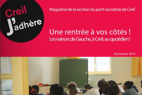 Edition de septembre 2014 du magazine de la section de Creil