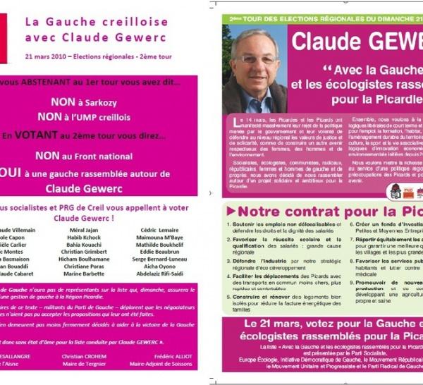 La gauche Creilloise avec Claude Gewerc